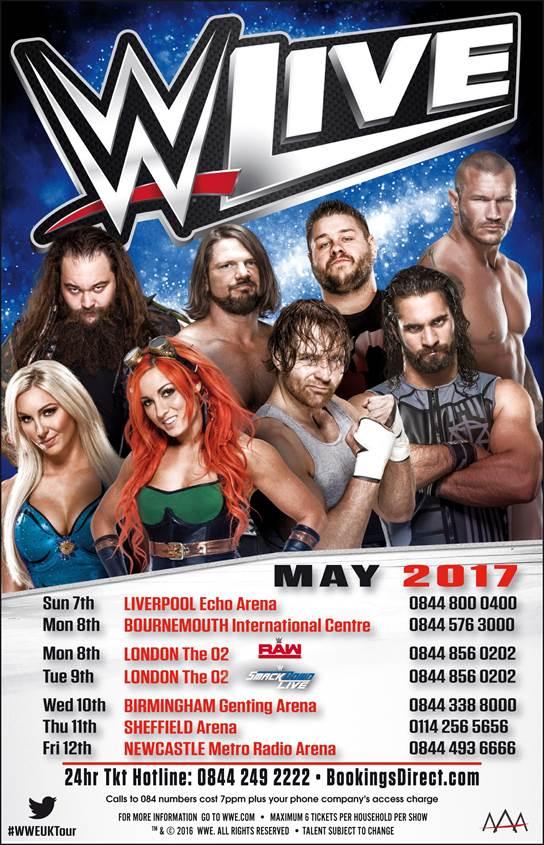 Raw Tour Schedule